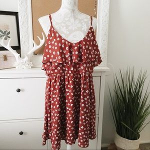 Rust Colored  Floral Sundress